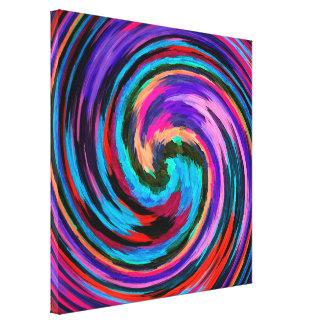 Fondo colorido #11 de la pintura del remolino del lona envuelta para galerías
