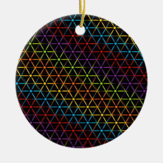 Fondo colorido abstracto adorno navideño redondo de cerámica