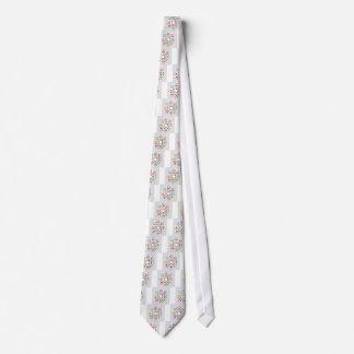 Fondo colorido abstracto corbata personalizada
