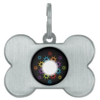Fondo colorido abstracto placa de mascota