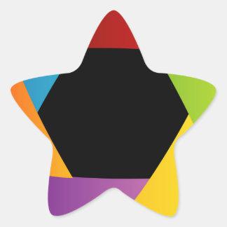 Fondo colorido de la abertura del obturador pegatina en forma de estrella