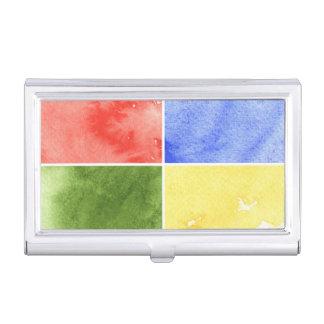 fondo colorido de la acuarela para su diseño cajas de tarjetas de presentación
