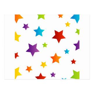 Fondo colorido de la estrella postal