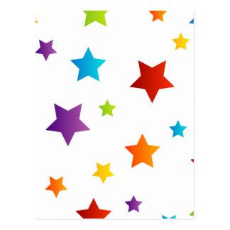 Fondo colorido de la estrella tarjetas postales