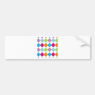 Fondo colorido de la teja etiqueta de parachoque