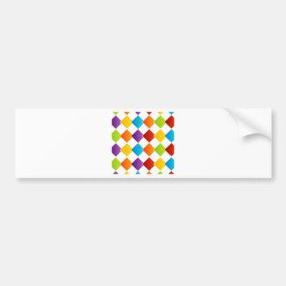 Fondo colorido de la teja pegatina de parachoque
