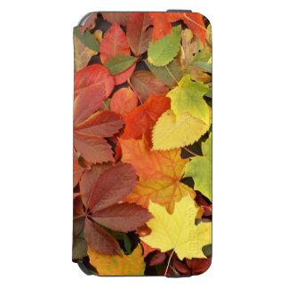 Fondo colorido de las hojas de otoño caidas funda cartera para iPhone 6 watson