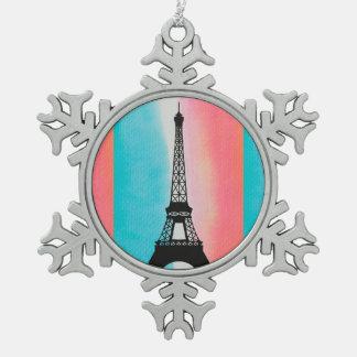 Fondo colorido de París de la torre Eiffel fresca Adorno