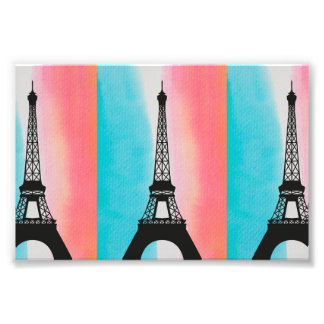 Fondo colorido de París de la torre Eiffel fresca Impresiones Fotograficas