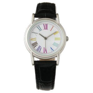 Fondo colorido de PixDezines Numeros/DIY Relojes De Mano