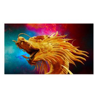 Fondo colorido de Tailandia del dragón de oro fres Tarjetas De Visita