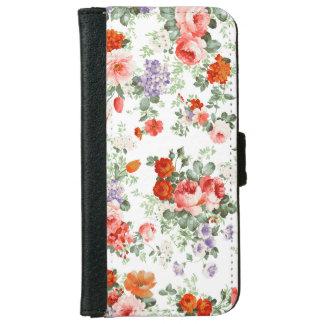 Fondo colorido del blanco del modelo de flores carcasa de iPhone 6