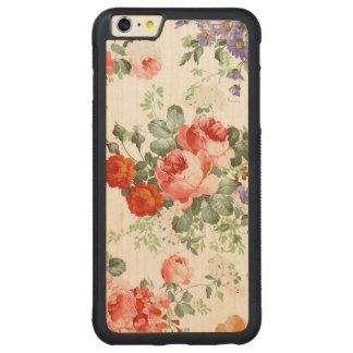 Fondo colorido del blanco del modelo de flores funda de arce bumper carved® para iPhone 6 plus