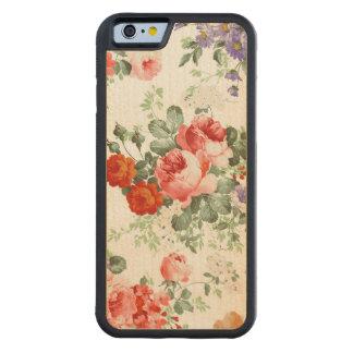 Fondo colorido del blanco del modelo de flores funda de iPhone 6 bumper arce
