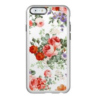 Fondo colorido del blanco del modelo de flores funda para iPhone 6 plus incipio feather shine