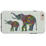 Fondo colorido del tinte del verde del elefante de funda de iPhone 6 plus tough