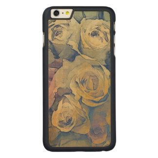 fondo colorido del vintage floral del arte funda de arce carved® para iPhone 6 plus slim