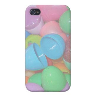 fondo colorido plástico del pastel de los huevos d iPhone 4 cobertura