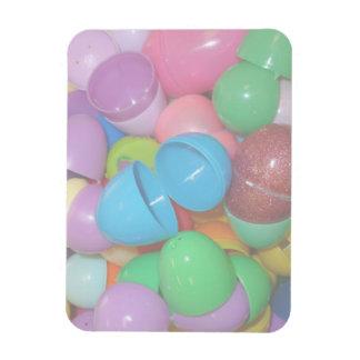 fondo colorido plástico del pastel de los huevos d imán foto rectangular
