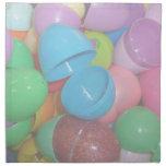 fondo colorido plástico del pastel de los huevos d servilleta
