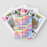 FONDO COLORIDO W de los MODELOS de los CORAZONES Baraja Cartas De Poker