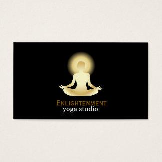 Fondo completo del negro de la aclaración de Lotus Tarjeta De Negocios