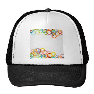 Fondo con los anillos coloridos gorras de camionero