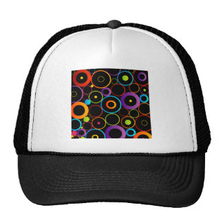 Fondo con los círculos coloridos gorras
