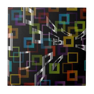 Fondo con los cuadrados coloridos azulejo cuadrado pequeño