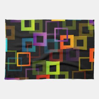 Fondo con los cuadrados coloridos toalla de cocina