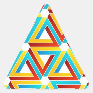 Fondo con los triángulos subiós pluma pegatina triangular