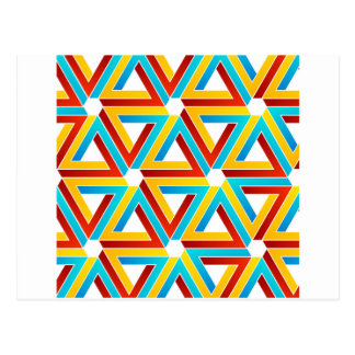 Fondo con los triángulos subiós pluma postal