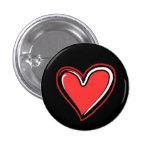 Fondo Corazón-Negro Pin