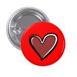 Fondo Corazón-Rojo Pins