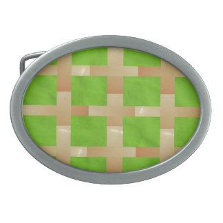 Fondo creado ARTISTA del verde de la chispa del Hebillas De Cinturon Ovales