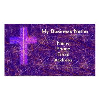 Fondo cristiano abstracto con la cruz que brilla i plantilla de tarjeta de negocio