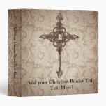 Fondo cristiano de la cruz w/Swirl de la voluta