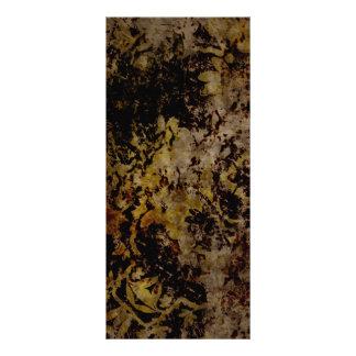 fondo dañado marrón oxidado tarjeta publicitaria personalizada