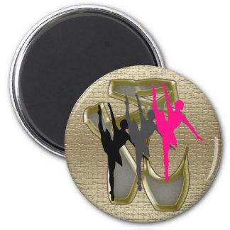 fondo de 3 de las bailarinas del oro zapatos de de imán redondo 5 cm