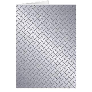 Fondo de acero brillante de la placa del diamante tarjeta de felicitación