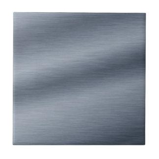 Fondo de acero cepillado de la mirada azulejo cuadrado pequeño