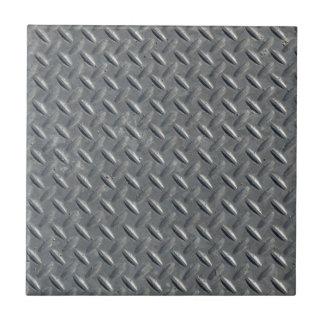 Fondo de acero de la placa del diamante azulejo cuadrado pequeño