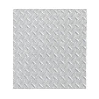 Fondo de acero de la placa del diamante blocs de notas