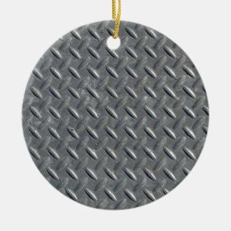 Fondo de acero de la placa del diamante adorno redondo de cerámica