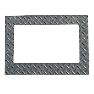 Fondo de acero de la placa del diamante marcos magnéticos de fotos