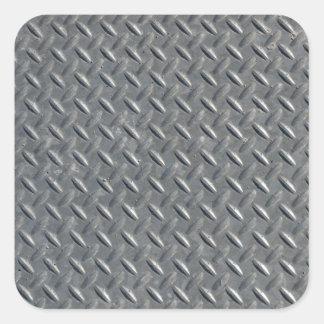 Fondo de acero de la placa del diamante pegatina cuadrada