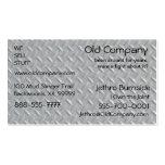 Fondo de acero de la placa del diamante tarjetas de negocios