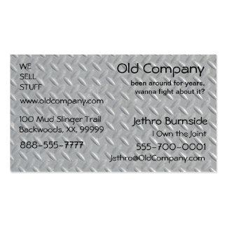 Fondo de acero de la placa del diamante tarjetas de visita