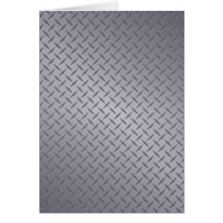 Fondo de acero gris profundo de Diamondplate Tarjeta De Felicitación
