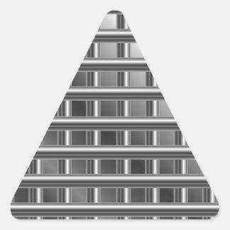 fondo de acero pegatina triangular